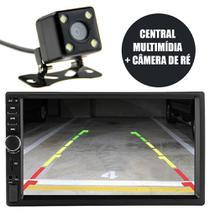 Central Multimidia Automotivo 7'' Camera Re Bluetooth Espelhamento Usb 2 Din Radio - Ideal