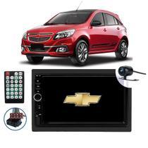 Central Multimídia Bluetooth Entrada Usb Sd Frontal Chevrolet Agile 2009 2010 2011 2012 2013 2014 2015 + Câmera de Ré - Honesty
