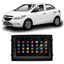 Central Multimídia Chevrolet Onix 2013 a 2019 Espelhamento iOS Android Touch Screen USB BT FM - Gold