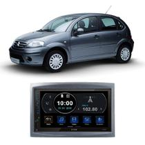 Central Multimídia Citroen C3 2003 a 2012 7 Polegadas Espelhamento Android iOS BT USB SD FM - Premium