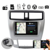 Central Multimídia City 10 a 14 Ar Digital MP5 C/ Moldura Voolt - Espelhamento, USB, SD, Bluetooth, Rádio -