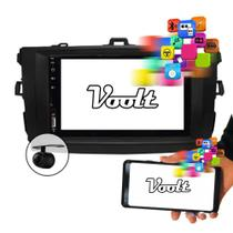 Central Multimídia Corolla 09 a 14 Kit completo MP5 C/ Moldura Voolt - Espelhamento, USB, SD, Bluetooth, Rádio -