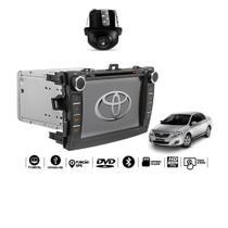 "Central Multimidia Corolla 2008 2009 2010 2011 2012 2013 2014 Tv digital Gps Bluetooth Usb  Sd Card Tela 8""  Camera  Espelhamento Android  e  Iphone - X3automotive"