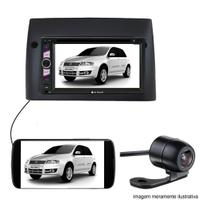 Central Multimidia Dvd 2Din Fiat Stilo Preta Camera de ré - Multi marcas