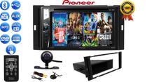Central Multimidia Dvd 2Din Pioneer Avh-G228bt Bluetooth Usb Cd + Câmera Moldura March Versa Sentra -