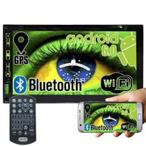 Central Multimídia Dvd Automotivo 2 Din 7.0 Exbom D760BT Wifi Android Espelhamento Bluetooth Gps