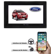 Central Multimidia Dvd Ecosport Até 12  + Interface Volante - E-tech