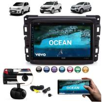 Central Multimidia Dvd Fiat Mobi + Moldura 2 Din + Camera -