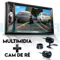 Central Multimídia DVD Mp10 2Din 7 Polegadas Universal Câmera ré TV Bluetooth USB SD Espelhamento - Uberparts