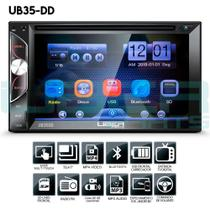 Central Multimídia DVD Mp5 2Din Universal Câmera ré Bluetooth USB SD Espelhamento - Uberparts