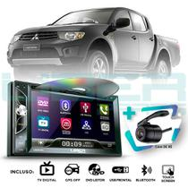 Central Multimídia DVD MP5 L200 Triton Câmera BT GPS TV Mirror - Uberparts