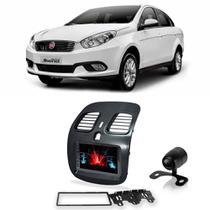 Central Multimídia Fiat Gran Siena 2012 a 2018 Espelhamento iOS Android 7 Polegadas BT USB + Câmera de Ré - Gold