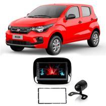 Central Multimídia Fiat Mobi 2016 a 2021 Espelhamento iOS Android 7 Polegadas BT USB + Câmera de Ré - Gold