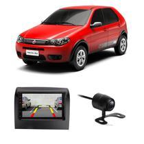 """Central Multimídia Fiat Palio Fire Way 2014 a 2018 First Option 7830 7"""" MP5 USB Bluetooth Espelhamento Android SD FM AUX + Câmera de Ré - Gold"""