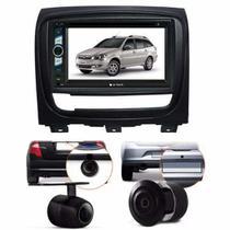 Central Multimidia Fiat Palio Week  + Moldura 2 Din + Camera - MULTI MARCAS