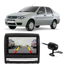 """Central Multimídia Fiat Siena 2004 a 2008 First Option 7830 7"""" MP5 USB Bluetooth Espelhamento Android SD FM AUX + Câmera de Ré - Gold"""