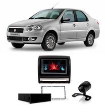 Central Multimídia Fiat Siena 2004 a 2011 Espelhamento iOS Android 7 Polegadas BT USB + Câmera de Ré - Gold