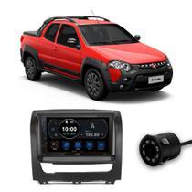 Central Multimídia Fiat Strada 2012 a 2018 7 Polegadas Espelhamento Android iOS BT USB SD FM + Câmera de Ré - Premium