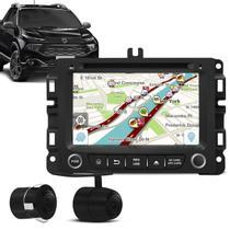 "Central Multimídia Fiat Toro 16 a 19 7"" Android Espelhamento GPS WiFi DVD BT Shutt + Câmera de Ré - Kit shutt"