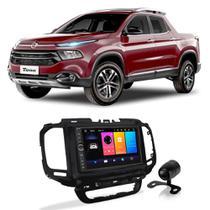 Central Multimídia Fiat Toro 2015 a 2021 7 Polegadas Sistema Android Play Store BT USB + Câmera de Ré - Gold