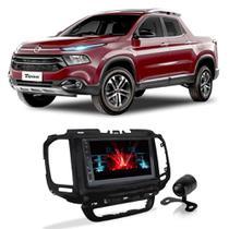 Central Multimídia Fiat Toro 2015 a 2021 Espelhamento iOS Android 7 Polegadas BT USB + Câmera de Ré - Gold