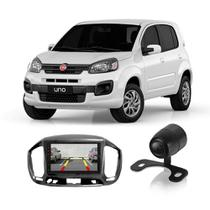 """Central Multimídia Fiat Uno 2015 a 2017 First Option 7830 7"""" MP5 USB Bluetooth Espelhamento Android SD FM AUX + Câmera de Ré - Gold"""