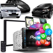 Central Multimídia Fit New Fit City Pioneer AVH-Z5280TV 2 Din TV BT USB Espelha Android iOS Preta -