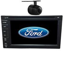 Central Multimidia Ford Fiesta 2003 04 05 06 07 08 09 10 11 12 13 14 GPS TV Camera Usb Sd BT Espelhamento - X3automotive