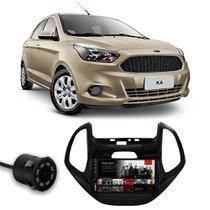 Central Multimídia Ford Ka 2014 a 2018 Espelhamento iOS Android Full Touch 7 Polegadas USB Bluetooth FM + Câmera de Ré - Premium
