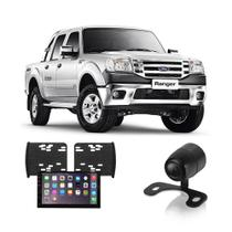 Central Multimídia Ford Ranger 1994 a 2010 7 Polegadas MP5 USB Bluetooth Espelhamento iOS Android + Câmera de Ré - Gold