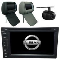 Central Multimidia Frontier 2009 10 11 12 13 14  + 1  encosto Cabeca Camera Tv Gps Usb sd Espelhamento - X3automotive