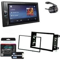 Central Multimidia GM Prisma 2013 em Diante com Pioneer DMH-G228BT, Camera de Re, Moldura e Interface -