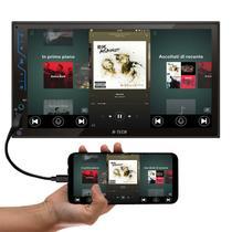 Central Multimídia H-Tech HT-3020 7 Polegadas Full Touch Espelhamento Android iOS Bluetooth USB SD FM -