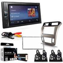 Central Multimidia Honda City Ar Digital 2011 a 2013 com Pioneer MVH G218BT, Camera de Re, Moldura, Interface, Chicote e Adaptador de Antena -