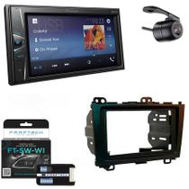 Central Multimidia Honda CRV 2007 a 2011 com Pioneer DMH-G228BT, Camera de Re, Moldura e Interface -