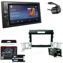 Central Multimidia Honda CRV 2012 a 2014 com Pioneer DMH-G228BT, Camera de Re, Moldura e Interface -