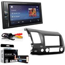 Central Multimidia Honda New Civic 2006 a 2011 com Pioneer MVH G218BT, Camera de Re, Moldura e Interface -