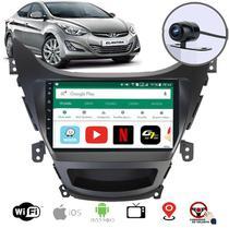 Central Multimídia Hyundai Elantra 2012 2013 2014 Gps Tv Digital WiFi Bluetooth Rádio Câmera de Ré Frontal Moldura - Aikon Aton Basic