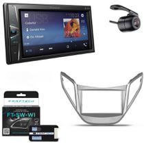 Central Multimidia Hyundai HB20 2012 A 2015 Sem Audio com Pioneer DMH-G228BT, Camera de Re, Moldura e Interface -