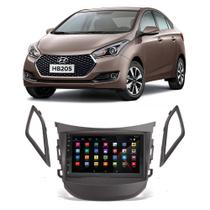 Central Multimídia Hyundai HB20s 2012 a 2019 Espelhamento iOS Android Touch Screen USB BT FM - Gold