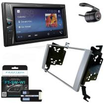 Central Multimidia Hyundai Santa Fé 2007 a 2012 com Pioneer DMH-G228BT, Camera de Re, Moldura Prata e Interface -