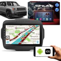 Central Multimídia Jeep Renegade PCD 15 a 19 9 Pol Shut Android Espelhamento Via USB e WiFi BT GPS - Shutt