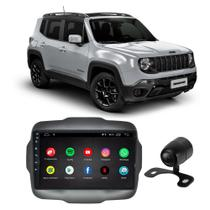 Central Multimídia Jeep Renegade PCD 2015 a 2020 9 Polegadas Full Glass Sistema Android Quadcore 16GB Espelhamento GPS Aplicativos + Câmera de Ré - First Option