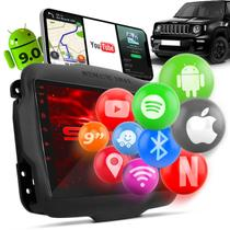 "Central Multimídia Jeep Renegade PCD 2015 a 2020 Android GPS 9"" Espelhamento Wi-fi Bluetooth Shutt -"