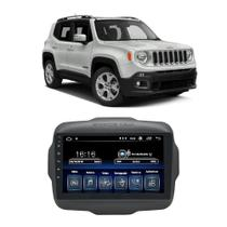 Central Multimídia Jeep Renegade PCD 2015 a 2020 Caska 9 Polegadas Full Glass Big Screen Espelhamento iOS Android