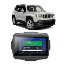 Central Multimídia Jeep Renegade PCD 2015 a 2020 Pioneer 8 Polegadas Espelhamento BT USB SD TV Digital -