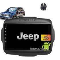 Central Multimidia  Jeep Renegade PCD Android 2015 16 17 18 19 20 WIFI Camera  Gps BT Espelhamento - X3automotive