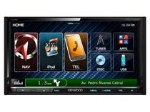 "Central Multimídia Kenwood DNX7150BT LCD 6,95""  - Entrada para Câmera de Ré USB Bluetooth Auxiliar"