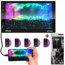 "Central Multimídia MP5 2 Din 7"" Bluetooth Espelhamento Android e iOS USB P2 Shutt New Miami + Brinde -"
