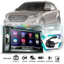 Central Multimídia Mp5 DVD Hyundai Creta  Câmera GPS USB BT TV Espelhamento - Uberparts